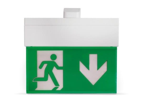 LED polycarbonate emergency light for signage HARPER 320 | Emergency light for signage by INIM ELECTRONICS