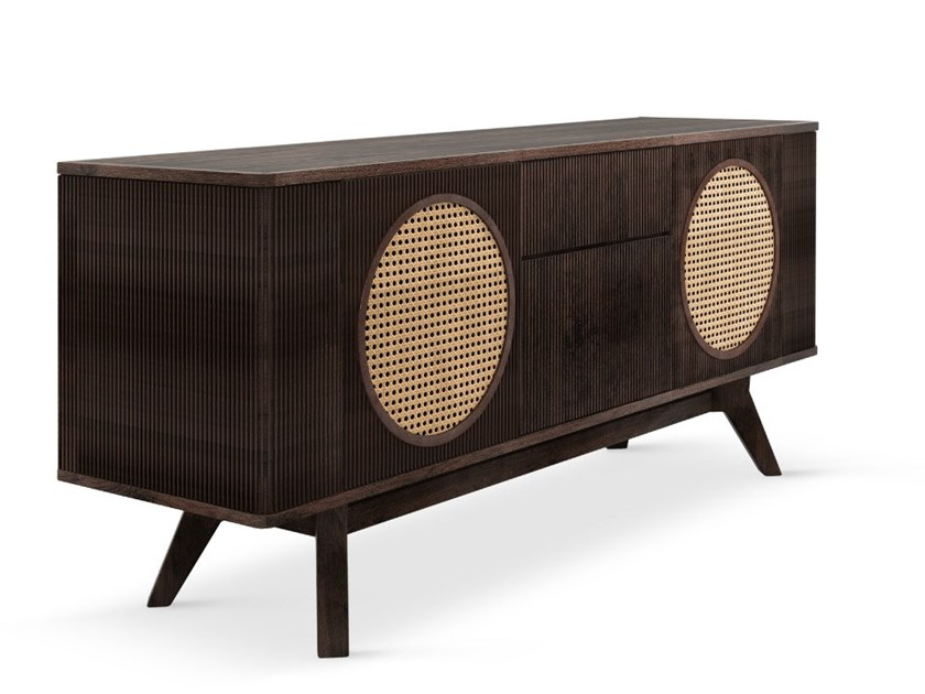 Walnut sideboard with doors HARRISON by Wood Tailors Club