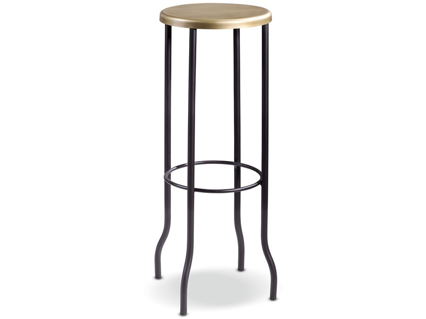 Metal stool with footrest HARRY by Cantori