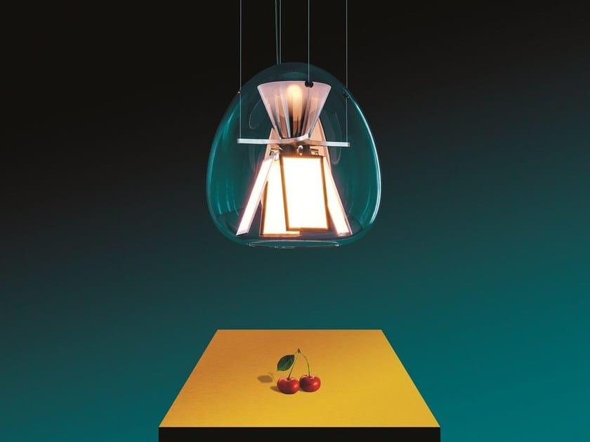 Lampada a sospensione a luce diretta in vetro soffiato HARRY H. By ...