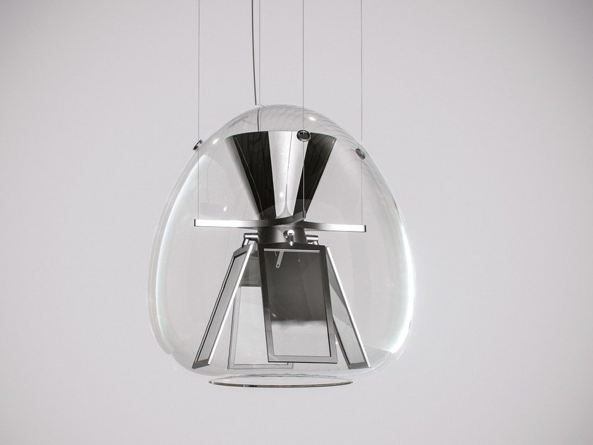 Direct light blown glass pendant lamp HARRY H. by Artemide
