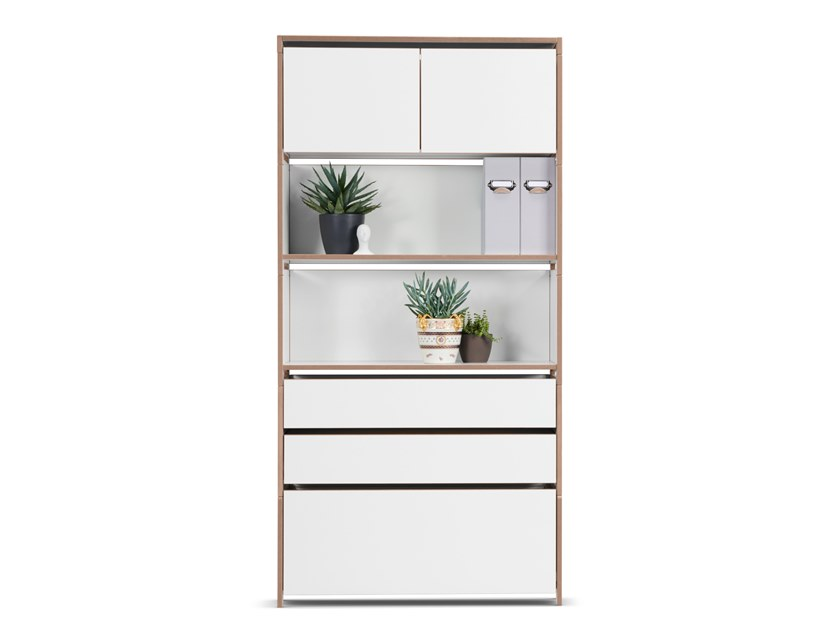 MDF bookcase with drawers HARRY | MDF bookcase by Country Living