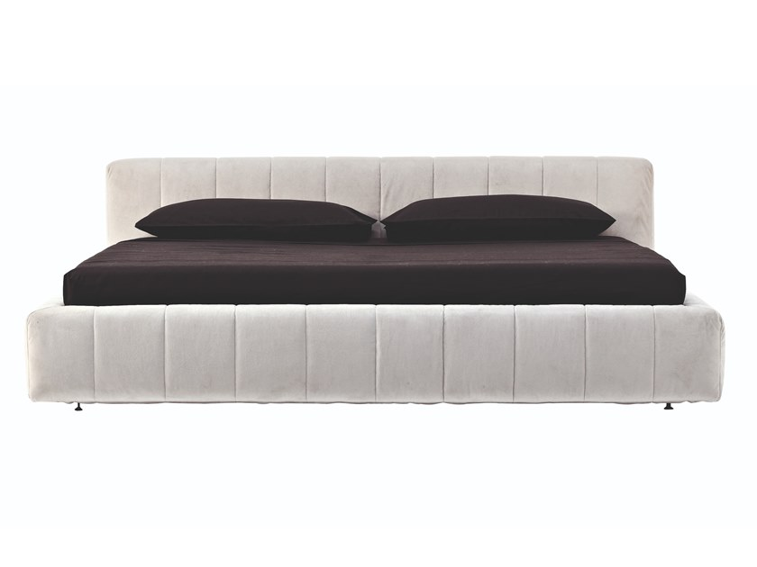 Double bed with upholstered headboard HARVEST by Busnelli