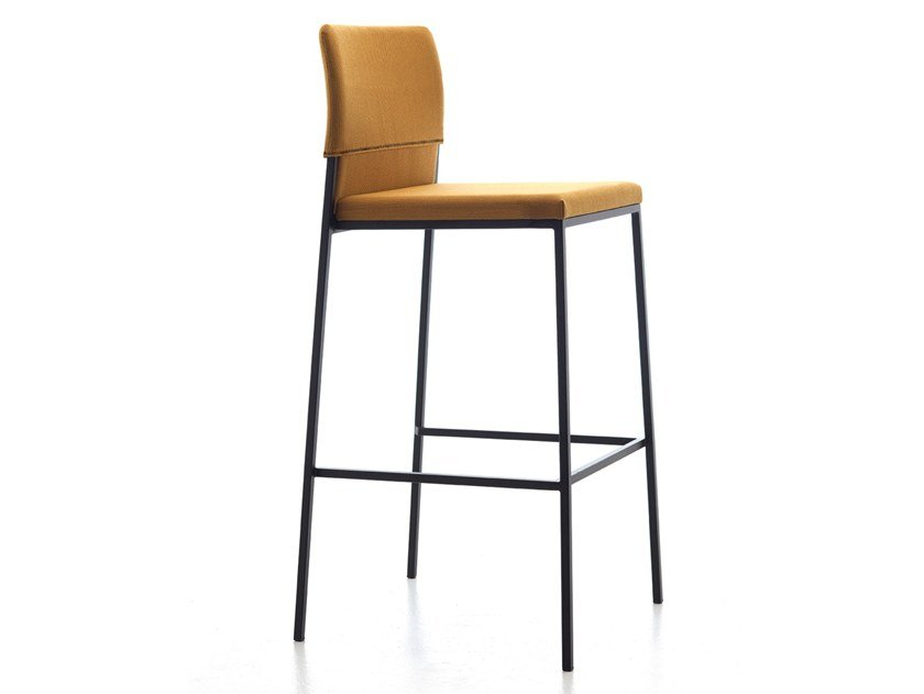 High fabric stool with footrest HAT | Stool with back by arrmet