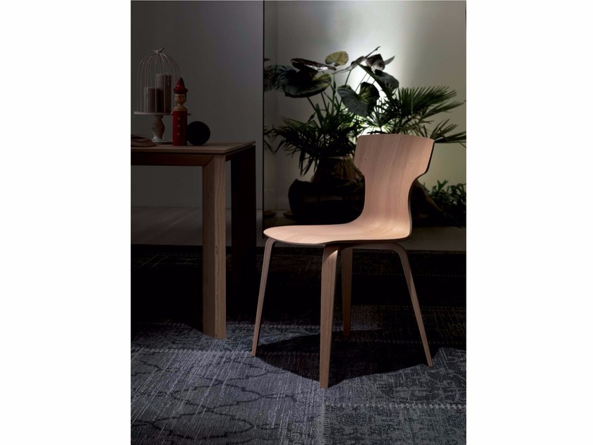 Wooden chair HAT | Wooden chair by Ozzio Italia