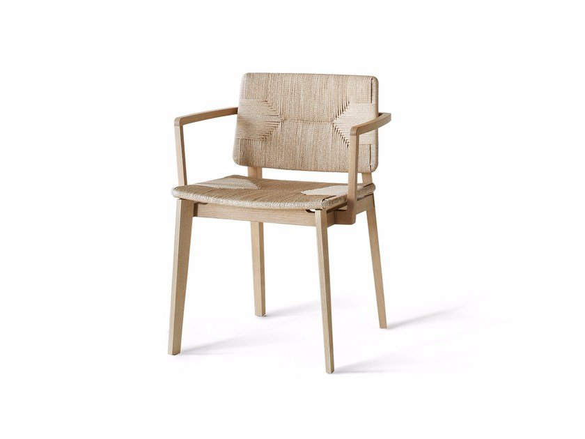 Rope chair with armrests HATI | Rope chair by Lema