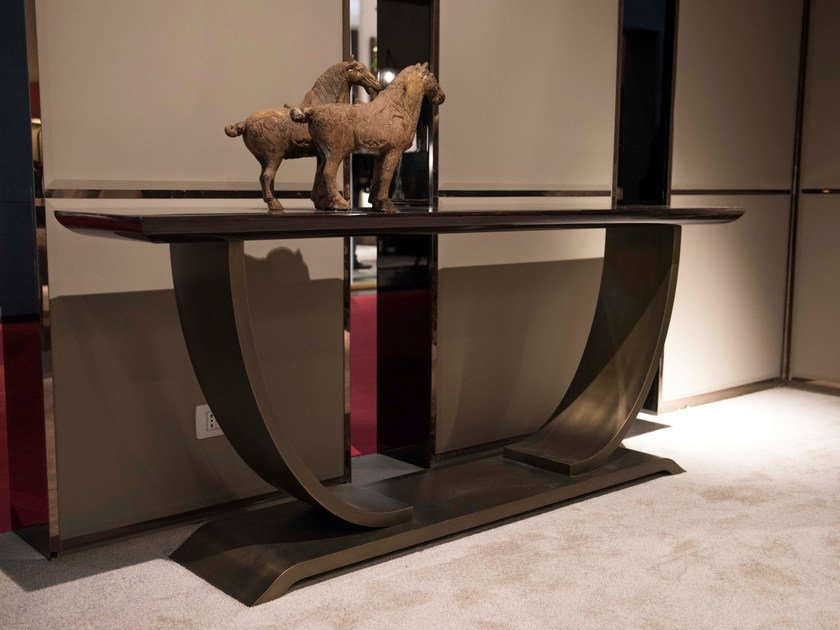 Rectangular metal console table HAUSSMANN | Console table by HUGUES CHEVALIER