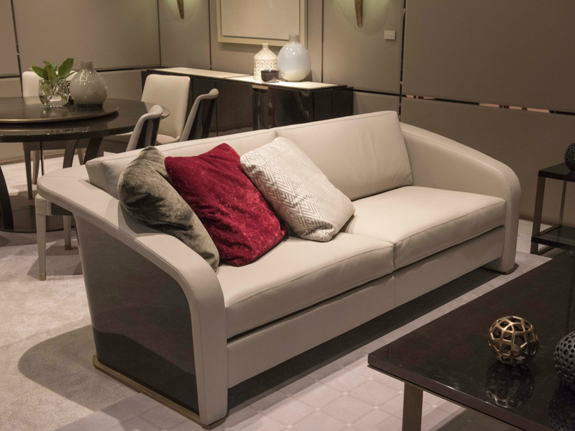 Leather sofa JEREMY by HUGUES CHEVALIER