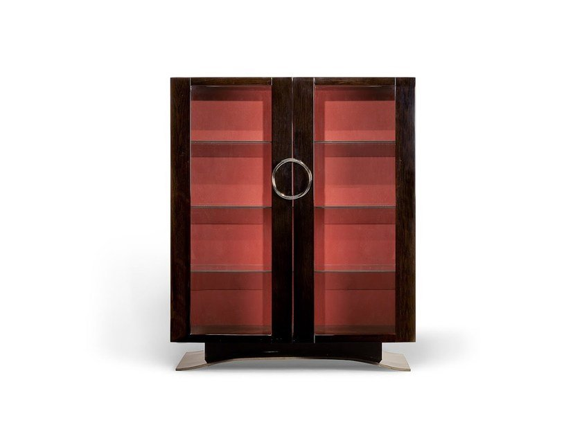 Lacquered oak highboard with doors with drawers HAUSSMANN | Highboard by HUGUES CHEVALIER