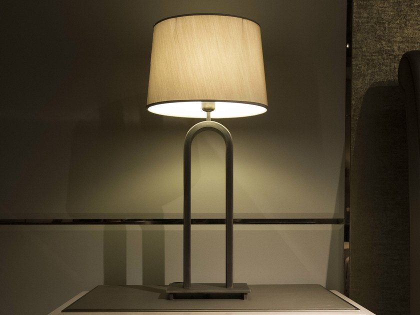 Metal table lamp with fixed arm HAUSSMANN | Table lamp by HUGUES CHEVALIER