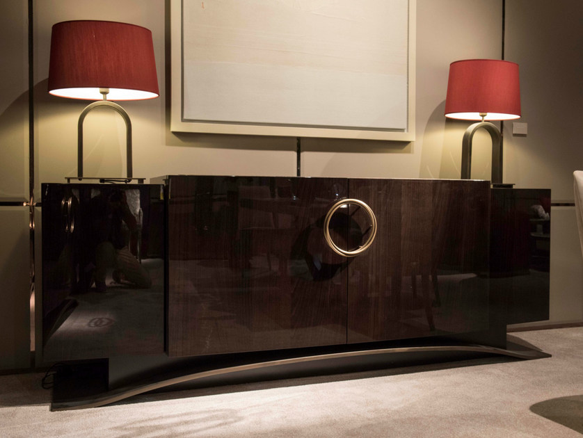 Lacquered oak sideboard with doors with drawers HAUSSMANN   Sideboard by HUGUES CHEVALIER