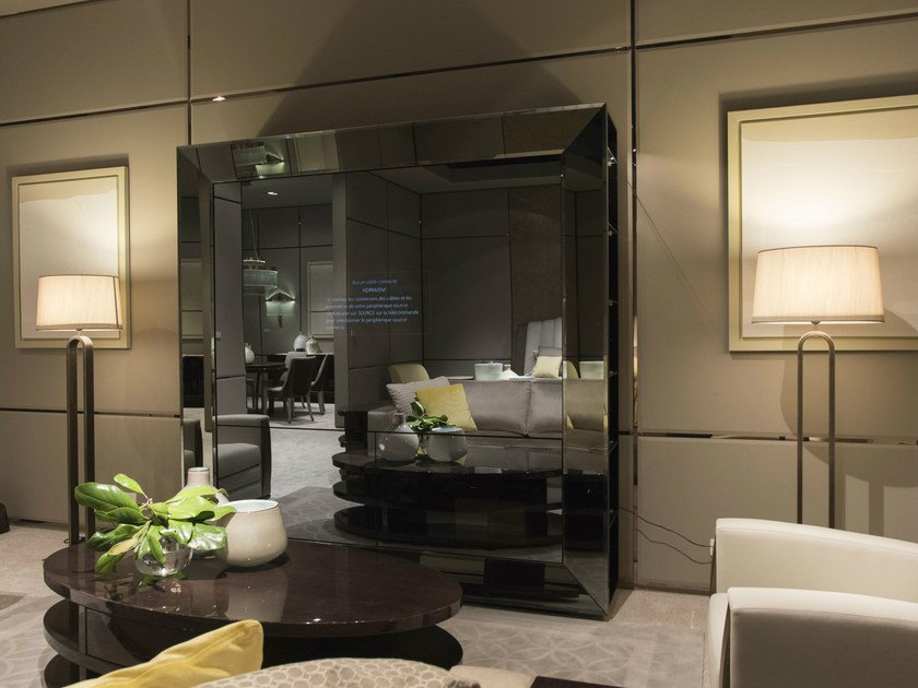 Lacquered glass TV cabinet HAUSSMANN | TV cabinet by HUGUES CHEVALIER