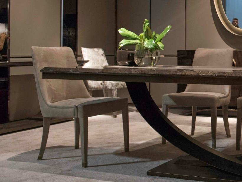 Fabric chair HAUSSMANN | Chair by HUGUES CHEVALIER