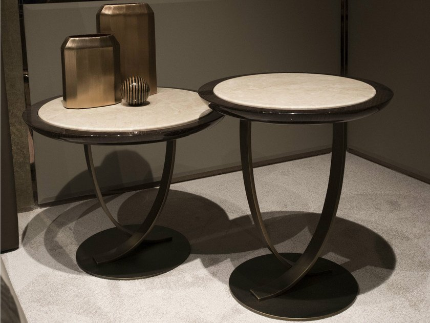 Round metal side table HAUSSMANN | Side table by HUGUES CHEVALIER