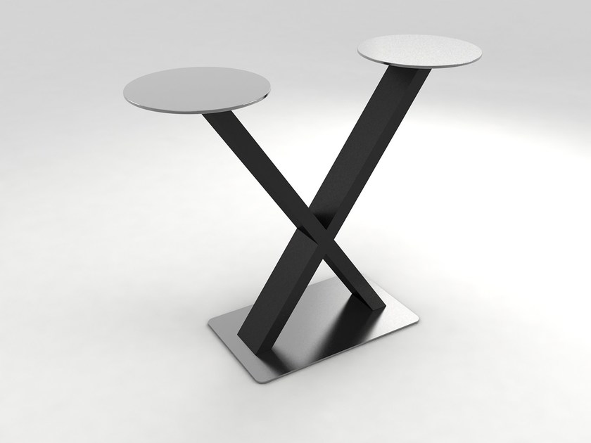 Stainless steel high table HAYA High Table Equis by Lamalva
