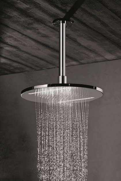 Soffione a pioggia a soffitto in acciaio inox per cromoterapia HEAD SHOWERS | Soffione per cromoterapia by newform