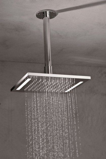 Ceiling mounted stainless steel rain shower for chromotherapy HEAD SHOWERS | Overhead shower for chromotherapy by newform