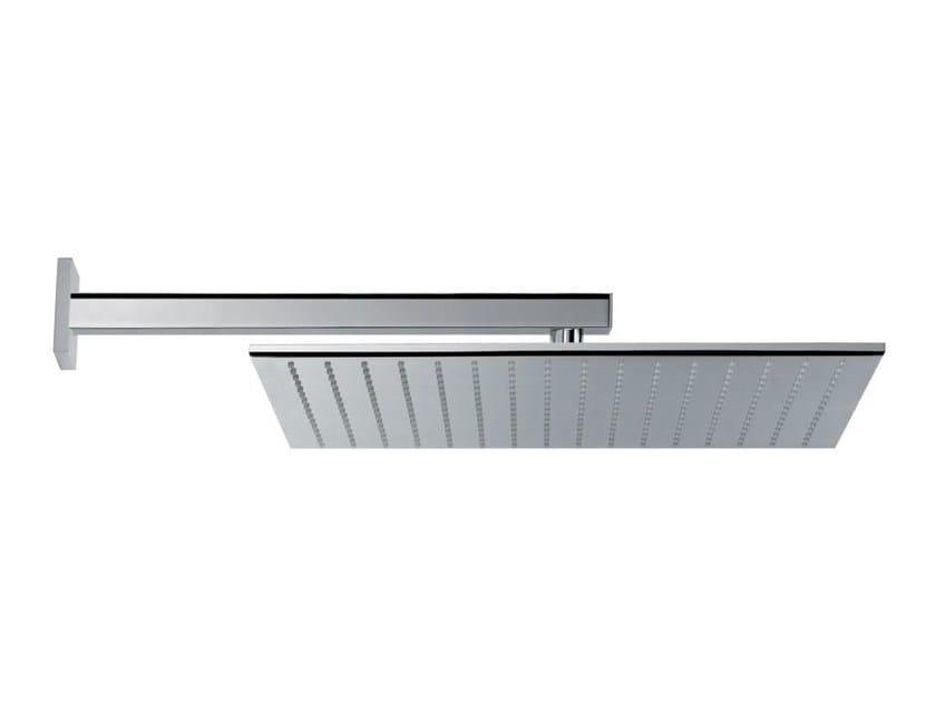 Adjustable stainless steel rain shower HEAD SHOWERS   Stainless steel overhead shower by newform