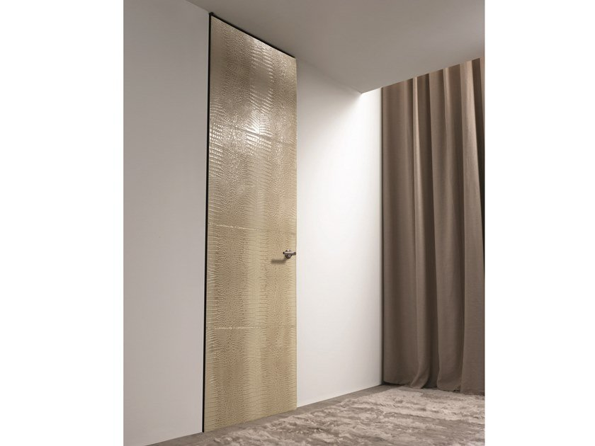 Hinged leather door HEADLINE | Leather door by Longhi