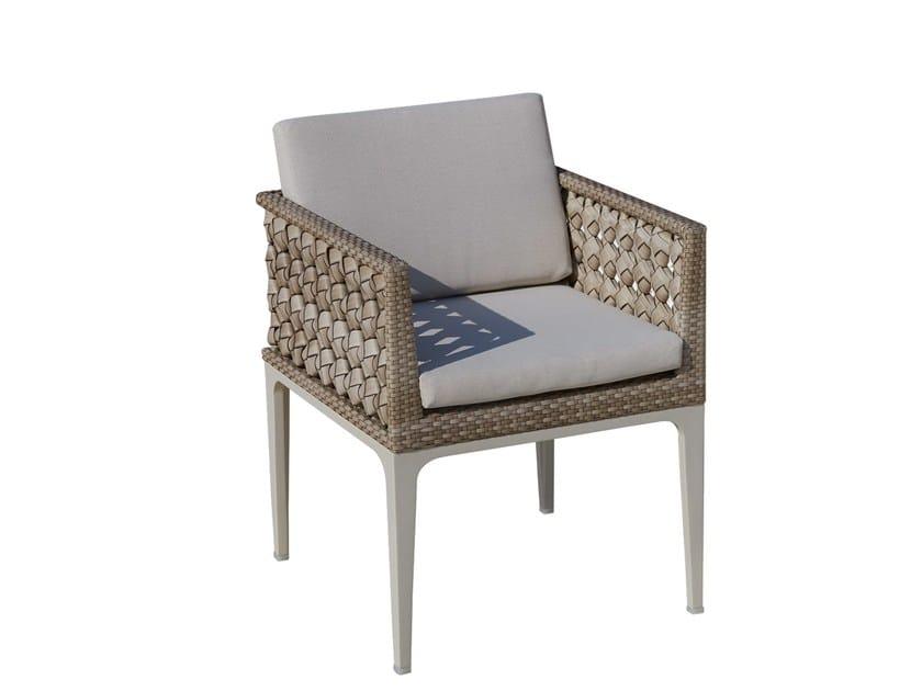 Sedia da giardino con braccioli HEART 23070 by SKYLINE design