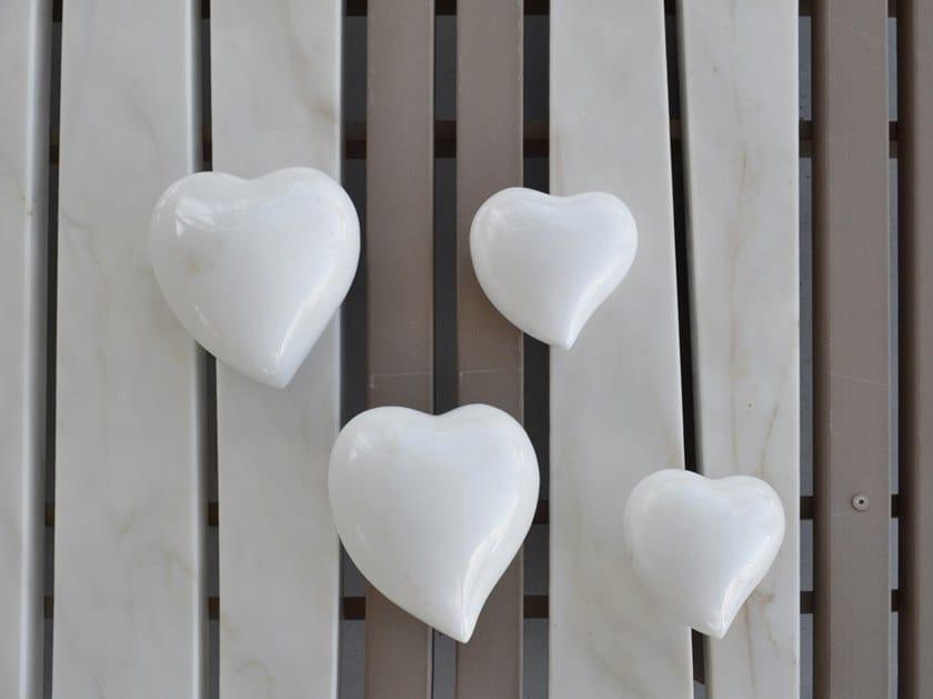 Marble decorative object HEART by FranchiUmbertoMarmi