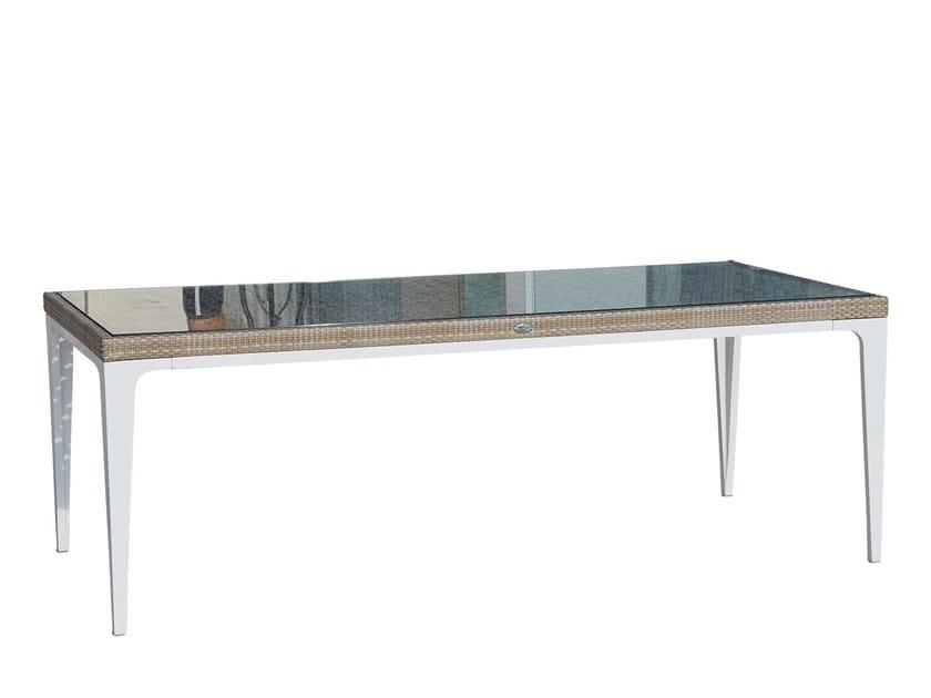 Tavolo da giardino rettangolare per contract HEART 23071.1 by SKYLINE design