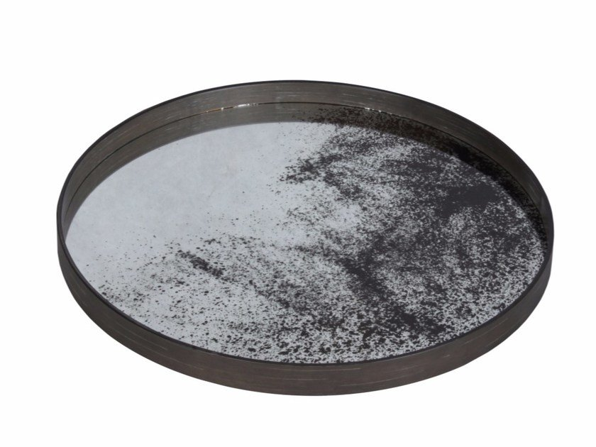 Round tray HEAVY AGED MIRROR | Round tray by Notre Monde