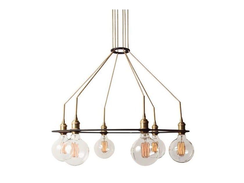 Metal chandelier HEAVY by Aromas del Campo