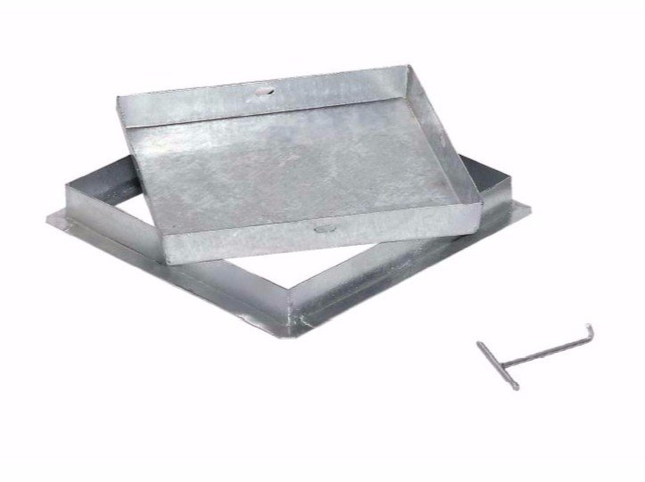 Manhole cover and grille for plumbing and drainage system HEAVY GALVANIZED STEEL RECESSED COVER by Dakota