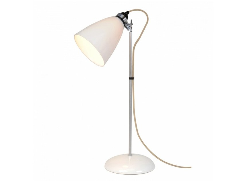 Adjustable porcelain table lamp with fixed arm HECTOR LARGE DOME | Table lamp by Original BTC