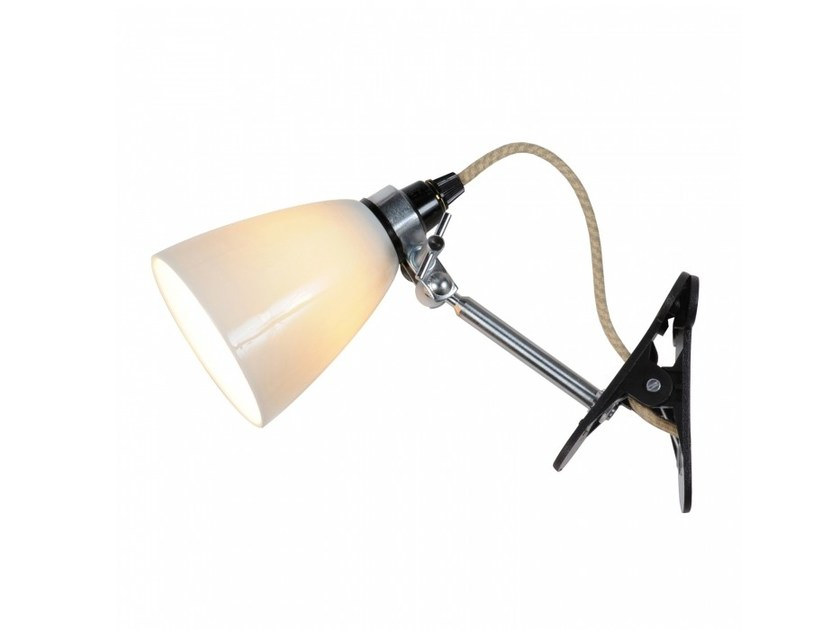 Adjustable porcelain clamp light HECTOR SMALL DOME CLIP by Original BTC