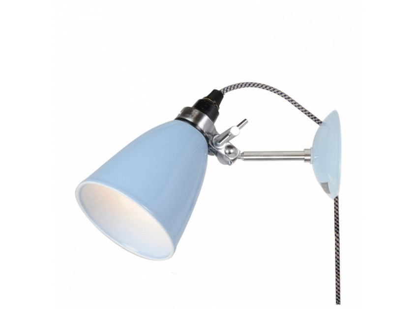 Fluorescent adjustable porcelain wall lamp HECTOR SMALL DOME PSC | Wall lamp by Original BTC
