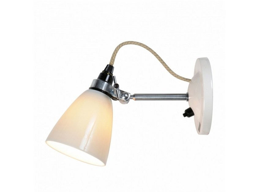Fluorescent adjustable porcelain wall lamp HECTOR SMALL DOME SWITCHED | Wall lamp by Original BTC