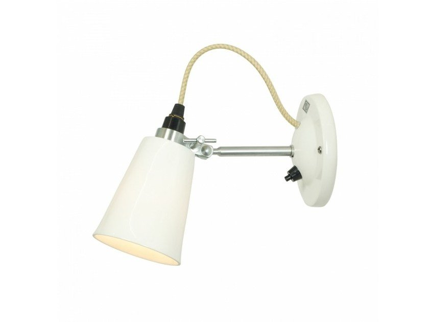 Fluorescent adjustable porcelain wall lamp HECTOR SMALL FLOWERPOT SWITCHED | Wall lamp by Original BTC