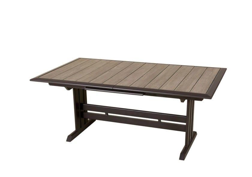 Extending HPL garden table HEGOA | Rectangular table by Les jardins