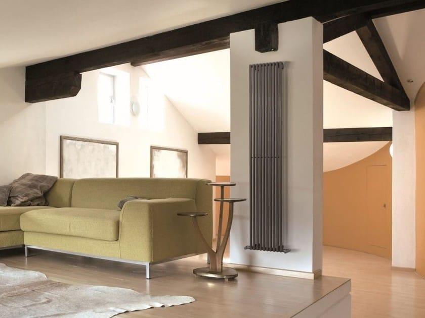 Hot-water vertical decorative radiator HEGOLINE 23 | Vertical decorative radiator by DELTACALOR