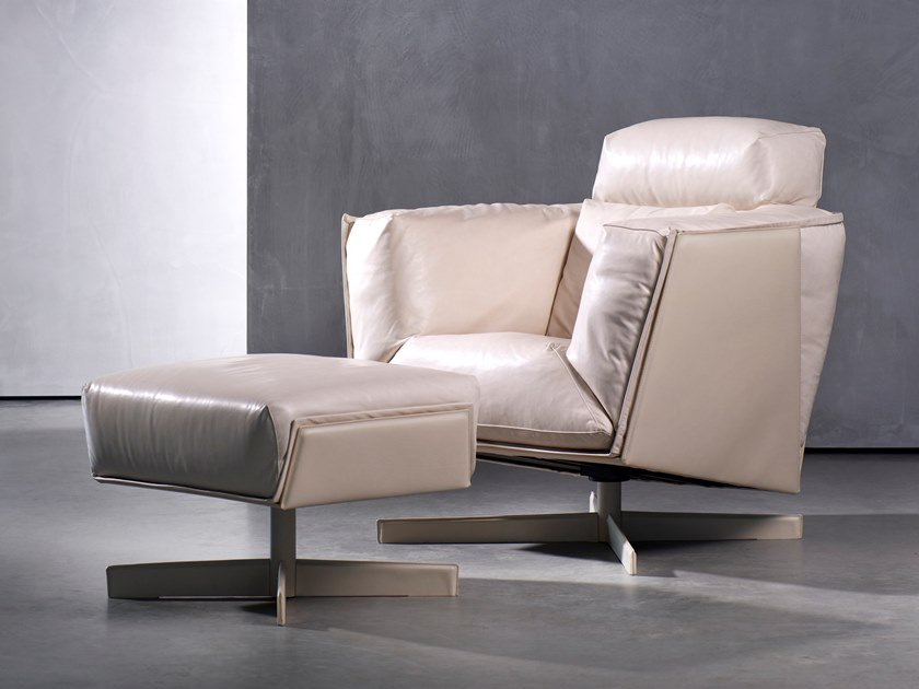 Swivel upholstered armchair HEIT | Armchair by Piet Boon