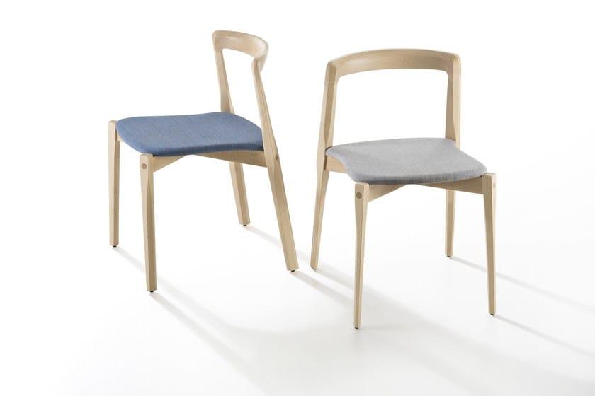 Sedia impilabile in legno HELIX by B-LINE