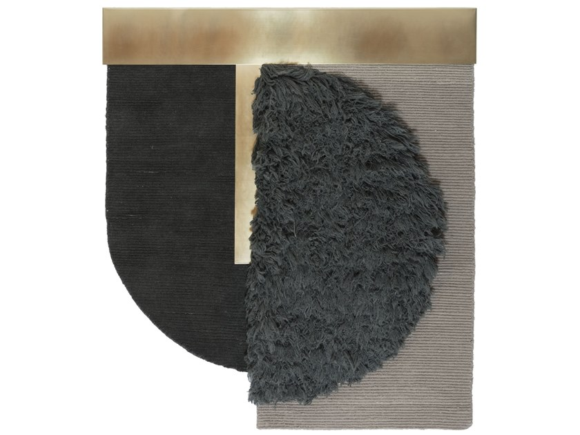 Handmade custom rug HELLO SONIA WALLHANGING BIG by cc-tapis