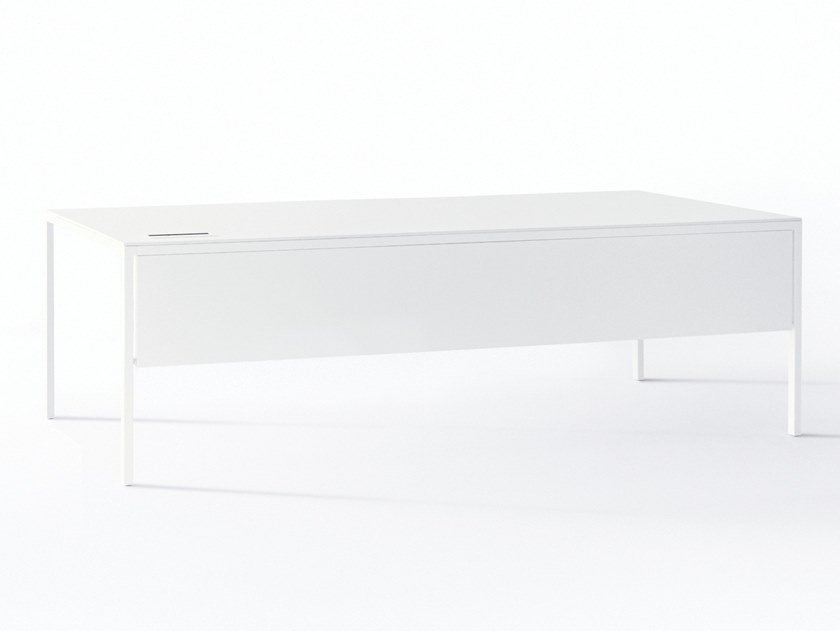 Rectangular steel office desk with drawers HELSINKI | Office desk by Desalto
