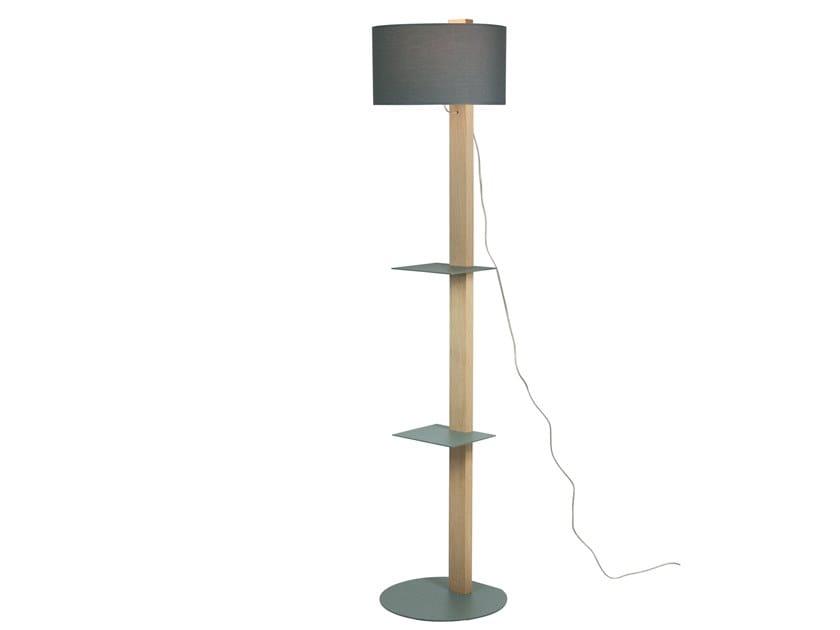 Floor lamp with shelf HENZO by LUZ EVA