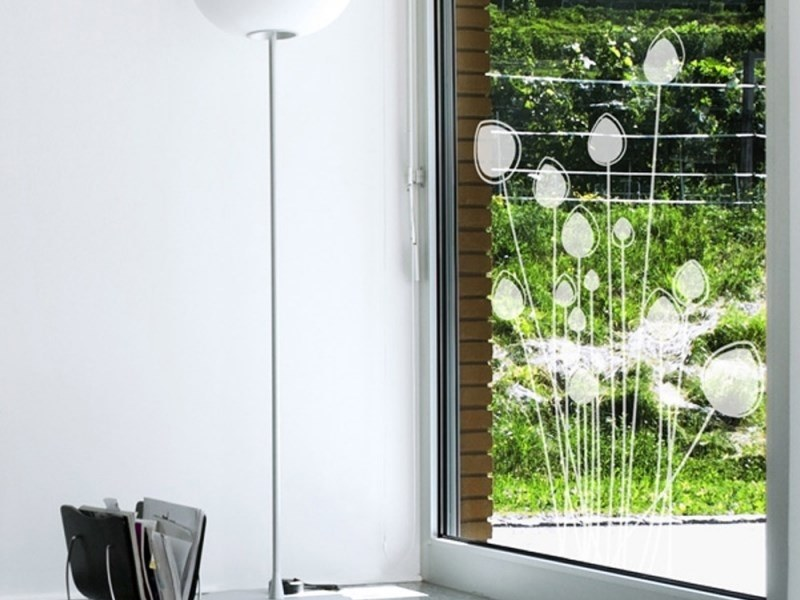 Wall sticker / window film HERBE FOLLE 2 by ACTE-DECO