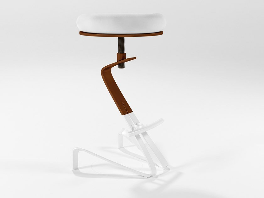 High upholstered stool with footrest HERBIE | High stool by Barel