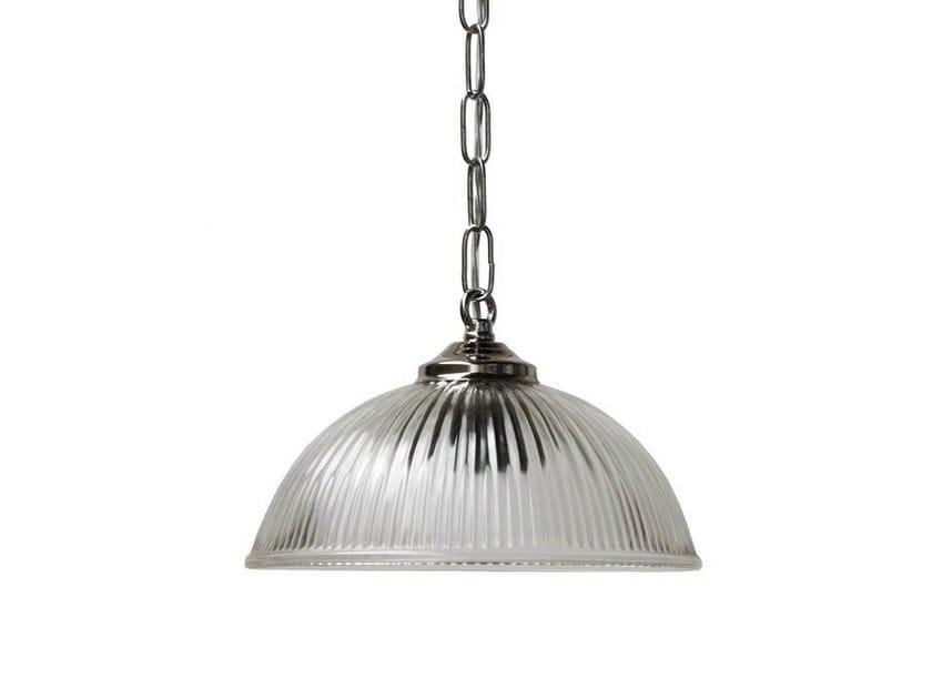 Handmade brass pendant lamp HERIOT HOLOPHANE PENDANT by Mullan Lighting