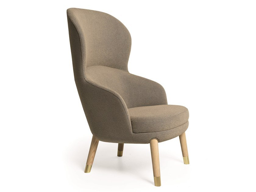 Bergere armchair with armrests HERITAGE   Bergere armchair by Very Wood