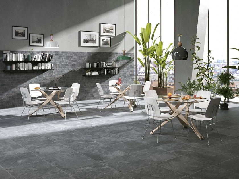 Porcelain stoneware wall/floor tiles with concrete effect HERITAGE by CERAMICHE BRENNERO