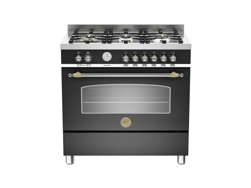 Professional cooker HERITAGE - HER90 6 MFE S by Bertazzoni