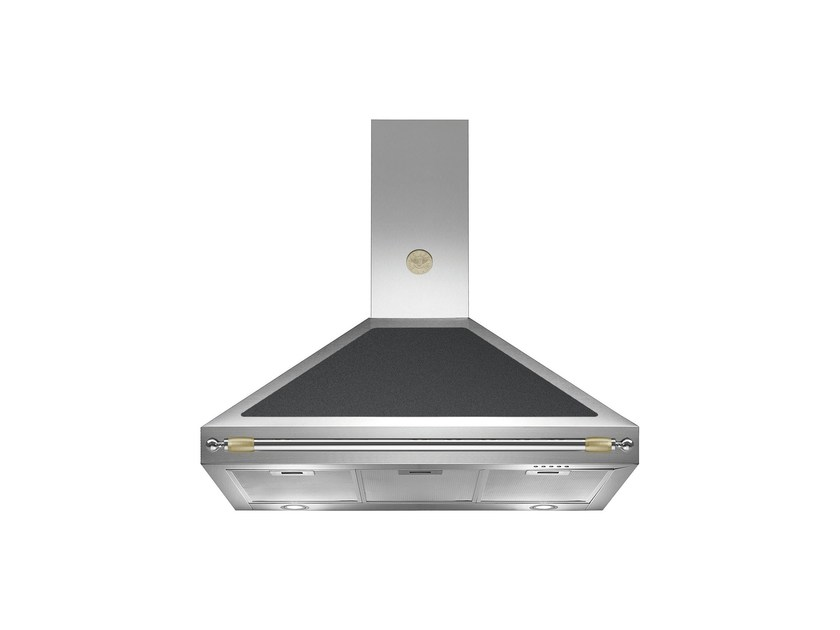Wall-mounted cooker hood with integrated lighting HERITAGE - K100 HER by Bertazzoni