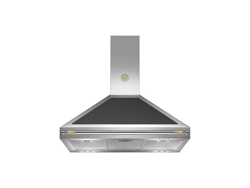 Wall-mounted cooker hood with integrated lighting HERITAGE - K90 HER by Bertazzoni