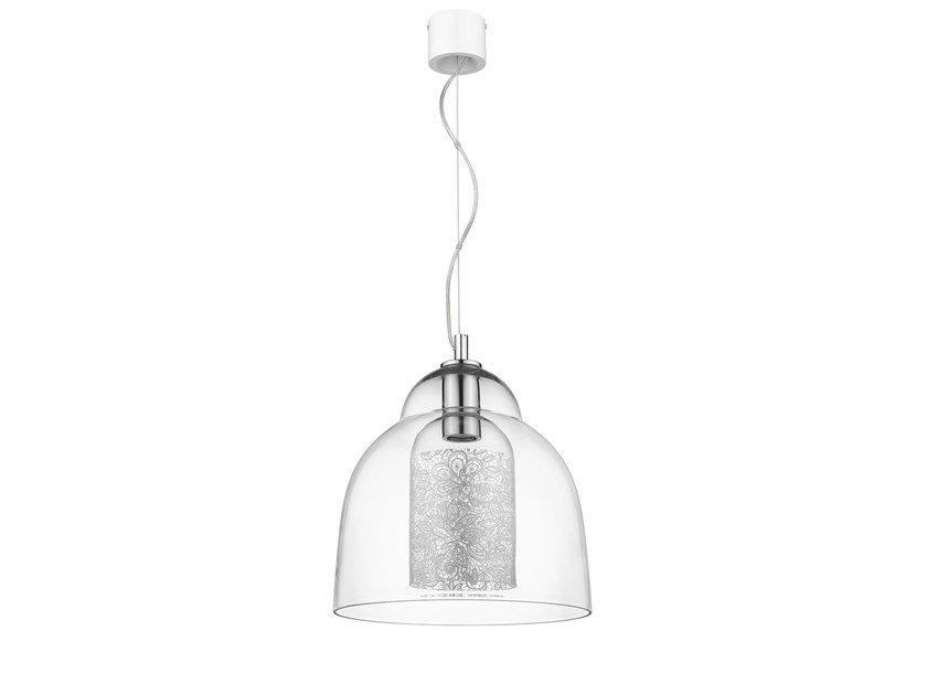 LED direct light blown glass pendant lamp HERITAGE by Seyvaa